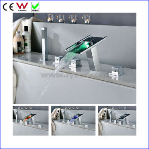 High Quality Self-Power Bath and Shower LED Bathtub Faucet (FD15306F) pictures & photos