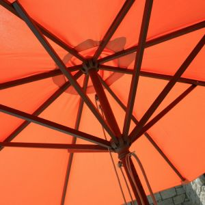 Classic Wood 9′ Rope Pulley Market Umbrella pictures & photos