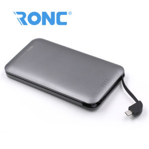 Full Capacity 8000mAh Card Power Bank with Built-in Cable Andriod/Ios pictures & photos