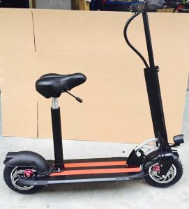 500W Electric Motor Scooter with Front Suspension, 48V/15.4 Lithium pictures & photos