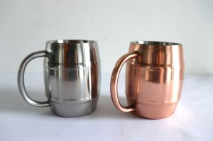 Promotional Decorative Copper Cup Absolut Solid Stainless Mug for Moscomule Copper Mugs Wholesale Stainless Steel Beer Mugs pictures & photos
