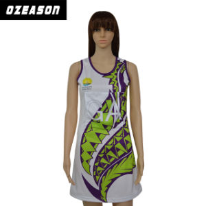 Custom Made Women′s Fashion Netball Dress pictures & photos