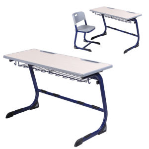 School Classroom Student Double Desk and Chair pictures & photos