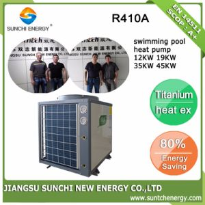 Thermostat 27~240cube Meter Water Keep 32deg. C Titanium Anti Corrsion Cop4.62 19kw/35kw/70kw Air Heat Pump Swimming Pool Heaters pictures & photos