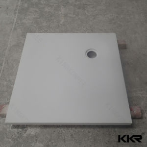 Solid Surface Retangle Stone Shower Base pictures & photos