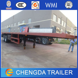 Chinese 45FT Flatbed Container Semi Trailer 45ton pictures & photos