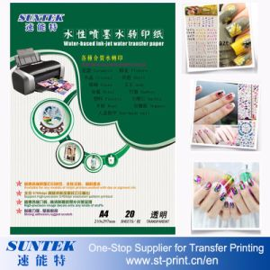 A4 Inkjet Water Slide Decal Paper Transparent /Light Color pictures & photos