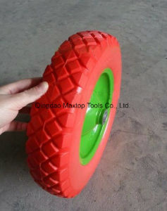350-8 Solid Rubber PU Foam Wheel pictures & photos