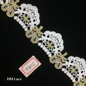 5cm Craft Lace, Gold Indian Lace, Embroidery Border, Craft Lace, Saree Border, Tribal Boho Lace, Embroidered Trim Hme856 pictures & photos