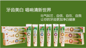 Bamboo Salt Mentha Spicata Mint Remove Bad Breath Clearing Heat-Fire Antiallergic Oral Cleaning Whitening Toothpaste pictures & photos