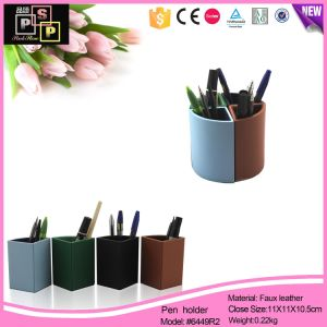Bright-Colored Multifunction PU Leather Pen Box (6449) pictures & photos