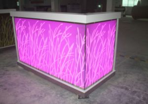 SGS Certificate Approved Solid Surface Cafeteria Bar Counter pictures & photos