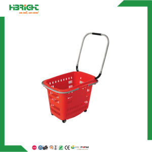 Colourful Convenient Shopping Basket with Four Wheels pictures & photos