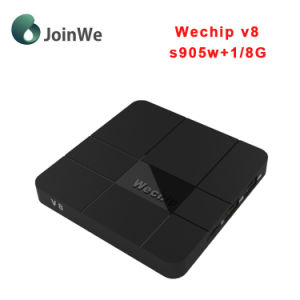 Set Top Box Wechip V8 Newest Amlogic S905W Android 7.1 TV Box pictures & photos