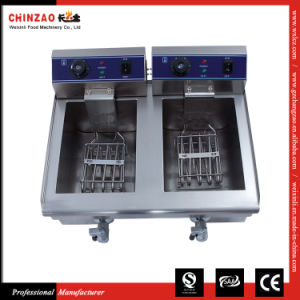 Commercial Bench Top Electric Deep Fryer with Oil Tap Dzl-20V pictures & photos