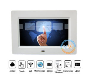 4G 3G Bluetooth WiFi Touch Screen Digital Photo Frame 7 Inch (MW-077TWDPF) pictures & photos