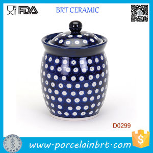 China Hand Made Kitchen Ceramoic Storage Jar Sugar Coffee Jar pictures & photos