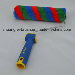 "9"" Rainbow Stripe Paint Roller with Soft Handle for All Painting pictures & photos"