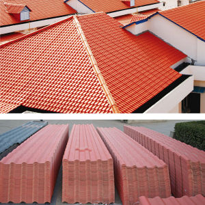 Colorfast Plastic Spanish Roof Tile pictures & photos