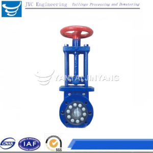 Jinyang Slurry Knife Gate Valve Dn350 Pn16 pictures & photos