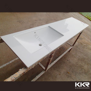 China Solid Surface Stone One Piece Bathroom Vanity with ...