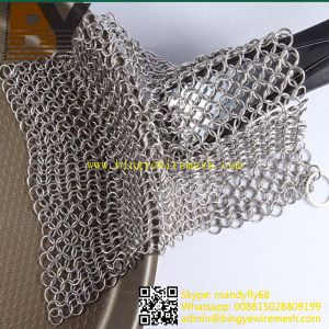 Stainless Steel Chainmail Scrubber Cookware Cleaner pictures & photos