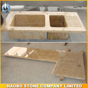 Haobo Granite Madura Gold Kitchen Countertop and Basins