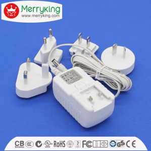 12V1a AC/ DC Power Adaptor with Exchangeable UL Au UK EU Jp Cn Plugs pictures & photos