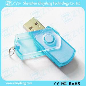 Multicolor Transparent Plastic Swivel USB Flash Drive (ZYF1813)