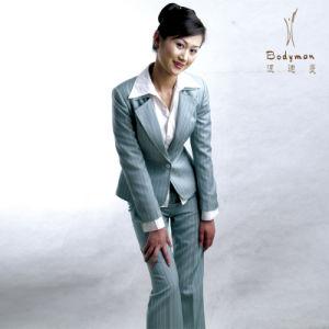 Latest Design Women Business Suits, Office Lady Suits with Pants, Work Uniform Fashion
