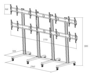 """Video Wall Stand 8- Screens 40-55"""" (2*4) (AW 800) pictures & photos"""