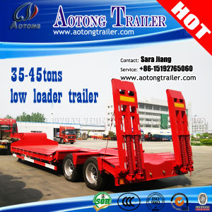 2-Axle 40ton Excavator Transportation Low Bed Trailer/Lowboy Truck Trailer pictures & photos