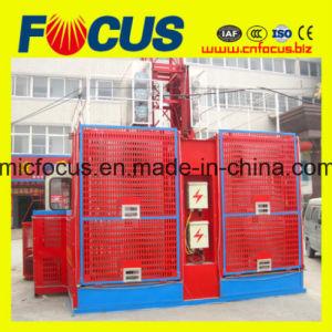 Ce Approved Sc200/200 Series Construction Lift/ Building Construction Hoist Double Cage pictures & photos