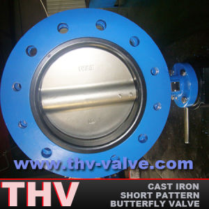 U-Section Flanged Type Butterfly Valve