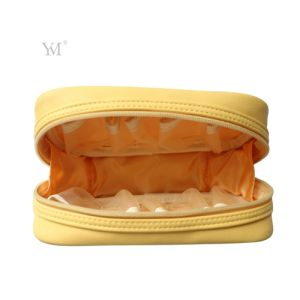 Custom Fashion Wholesale Fashion Leather Cosmetic Makeup Toiletry Women Bag pictures & photos