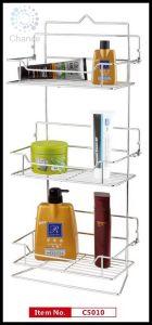 3-Tier Folding Iron Chrome Storage Shelf (C5010)