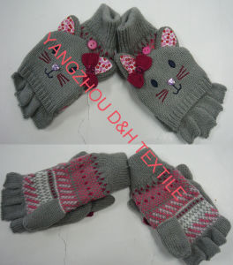 Thick Cartoon Knitted Writing Glove (DH-LH7404) pictures & photos
