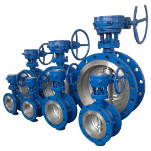 ANSI/ASTM Gear Operated Flanged Butterfly Valve (150LB--300LB) pictures & photos