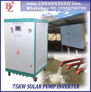 Solar Electricity Hybrid Pump Motor 75kw Inverter with AC Input pictures & photos