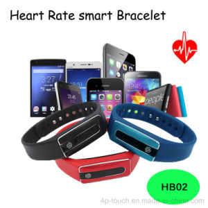 Pen Charger Bluetooth Smart Wristband with Heart Rate Mornitoring (HB02) pictures & photos