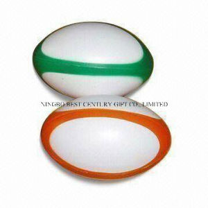 Hot Sale PU Anti Stress Ball Plain Rugby Style