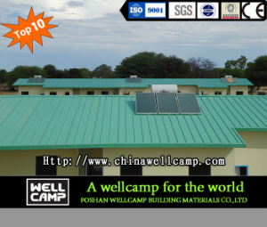 Green Modern Prefab House for Namibia Soldiers Camp pictures & photos