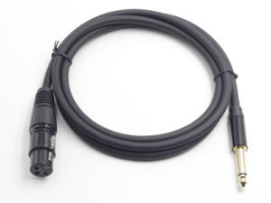 Black 6.35mm Ts Male to XLR Female Microphone Cable pictures & photos
