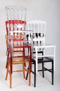 Polycarbonate (PC) Resin Wedding Banquet Dining Napoleon Chair pictures & photos