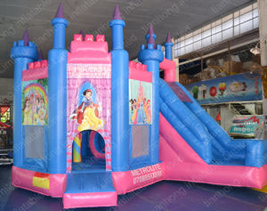 Hot Sale Pink Inflatable Bouncer with Slide for Fun pictures & photos