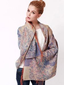 2015 Fashion Air-Condition Printed Flowers Scarf Shawl (MU6625) pictures & photos