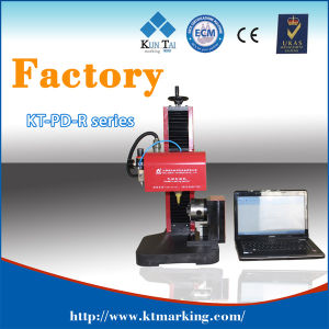 Pneumatic DOT Pin Marking Machine with Rotary Chuck Pd01-R pictures & photos
