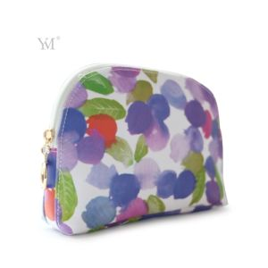 Ladies Shell Shape Fashion Polyester Cosmetic Makeup Gift Clutch Bag pictures & photos
