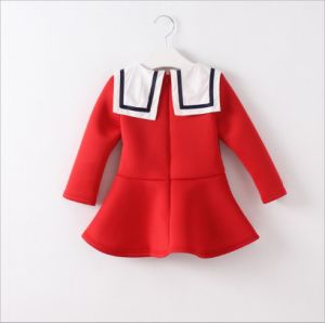 Girl Dress with Long Sleeve for Children Clothing pictures & photos