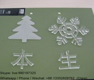Promotional Engraving Clear Acrylic Christmas Trees Gift pictures & photos